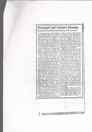 SC Woodson Concert Allemagne